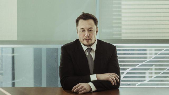 FILE -- Elon Musk at the New York Times building in New York, Dec. 14, 2016. Now in 2018, the year has only gotten more intense for Musk, the chairman and chief executive of the electric-car maker Tesla, since he abruptly declared on Twitter in mid-August that he hoped to convert the publicly traded company into a private one. The episode kicked off a furor in the markets and within Tesla itself, and he acknowledged on Aug. 16 that he was fraying. (Sasha Maslov/The New York Times)