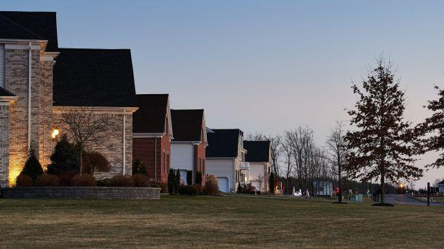 FILE -- Houses in Hillsborough, N.J., Dec. 26, 2017. The Trump administration's tax cuts were supposed to lower housing prices, but nine months later, show little effect. (Angel Franco/The New York Times)