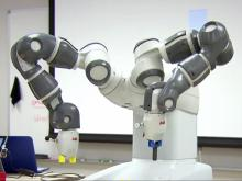 Wake Tech students, robots work side by side