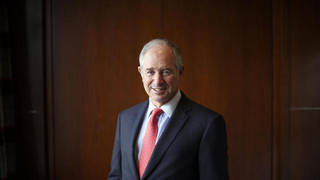 FILE -- Stephen Schwarzman, the chairman and chief executive of Blackstone, at the private equity firm's headquarters in New York, April 17, 2013. Schwarzman and the chief executive of BlackRock have canceled plans to attend an investment conference in Saudi Arabia in October 2018, people with direct knowledge of the matter said, joining Jamie Dimon of JPMorgan Chase as the latest Wall Street titans to pull back in the wake of the disappearance, and potential murder of a prominent Saudi journalist. (Todd Heisler/The New York Times)