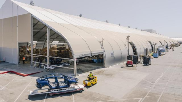 FILE -- The Tesla Model 3 assembly line at the company's factory in Fremont, Calif., June 28, 2018. Tesla is definitely making progress, but some fundamental questions hanging over the company remain unanswered. (Justin Kaneps/The New York Times)