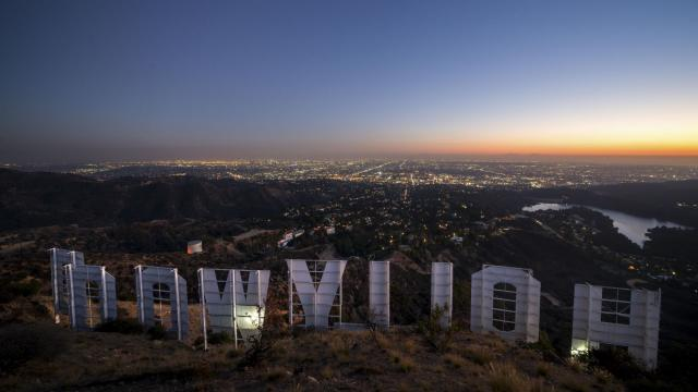 A view from behind the Hollywood sign, in Los Angeles, Nov. 2, 2018. The movie capital is mired in a profound malaise, partly because of the #MeToo movement, but also because of streaming, mega-mergers and the incursion of Big Tech into the entertainment industry. (Hunter Kerhart/The New York Times)