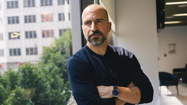 FILE -- Dara Khosrowshahi, the chief executive of Uber, in San Francisco, Aug. 24, 2018. The ride-hailing company said on Nov. 14, 2018, that it lost $1.07 billion in the third quarter, more than in the prior period and slightly less than in the same period a year ago, as it has invested heavily outside of its core business in areas such as bicycles, scooters and freight shipments. (Anastasiia Sapon/The New York Times)