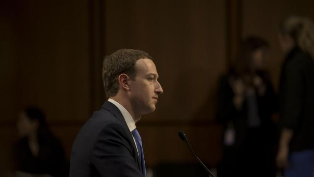 FILE — Mark Zuckerberg, Facebook's chief executive, testifies on Capitol Hill in Washington, April 10, 2018. Facebook has gone on the attack as one scandal after another — Russian meddling, data sharing, hate speech — has led to a congressional and consumer backlash. (Gabriella Demczuk/The New York Times)
