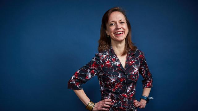 """The novelist Megan Abbott in New York on Oct. 26, 2018. The author of nine acclaimed novels, including """"Give Me Your Hand"""" and """"Dare Me,"""" Abbott is adapting four (four!) of them for TV. (Ewan Burns/The New York Times)"""
