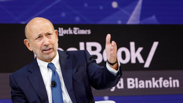FILE-- Lloyd Blankfein, the former chief executive officer at Goldman Sachs, speaks at the annual DealBook conference in New York, Nov. 1, 2018. Jho Low, a financier charged with looting billions from a Malaysian fund, had an audience in 2012 with Blankfein. Nearly six years later, Low is an international fugitive, accused of being the mastermind in a multibillion-dollar fraud involving a Malaysian government investment fund. (Mike Cohen/The New York Times)
