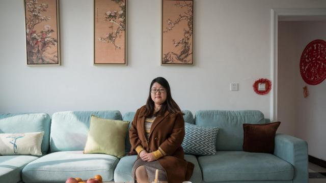 Hou Xiameng, who runs a data factory out of her in-laws' former cement factory, at her home in Nangongshi, in China's Hebei province, Nov. 1, 2018. If China is the Saudi Arabia of data, its data factories are the refineries, turning raw data into the fuel that can power China's goal of artificial intelligence supremacy. (Yan Cong/The New York Times)