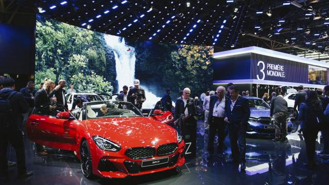 The BMW stand at the Paris Motor Show, Oct. 3, 2018. What used to be obligatory attendance at big-time shows, to attract thousands of media types in one place at one time, is now past. (Dmitry Kostyukov/The New York Times)