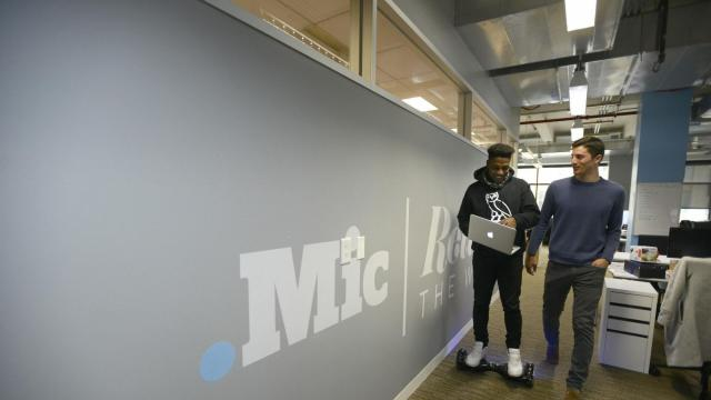FILE -- Chris Altchek, chief executive and co-founder of Mic, at the company's offices in New York, Dec. 21, 2015. Mic, an online publication that started seven years ago with ambitions of becoming a top source of news for and by millennials, laid off most of its staff Nov. 29, 2018, before being sold to Bustle Digital Group, a publisher that caters to millennial women. (Jennifer S. Altman/The New York Times)