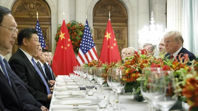 """President Donald Trump and President Xi Jinping of China, participate in a bilateral meeting during the G20 Summit in Buenos Aires, Argentina, Dec. 1, 2018. Referring to himself as a """"Tariff Man,"""" Trump issued a series of tweets on Tuesday morning that only further deepened the murkiness surrounding the trade truce that the two leaders said they had reached here on Saturday. (Tom Brenner/The New York Times)"""