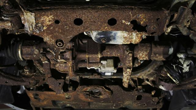 The rusted frame of the 2005 Toyota 4Runner belonging to Gary Weinreich in Georgetown, S.C., Nov. 15, 2018. Weinreich filed a defect petition, a little-known tactic, to compel federal regulators to investigate and possibly recall 500,000 other 4Runners for a prematurely rusted frame. (Travis Dove/The New York Times)