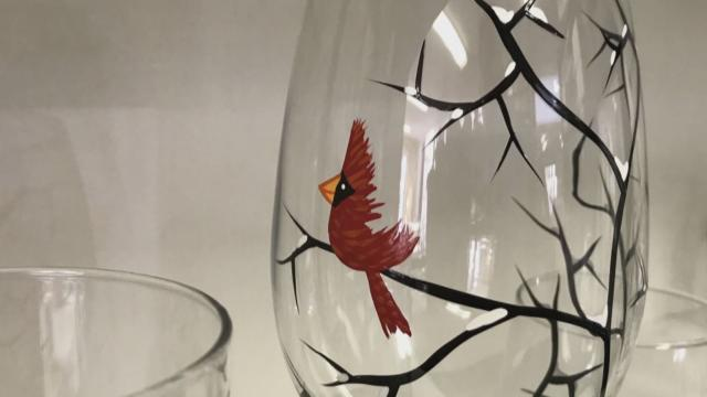 Mary Elizabeth says her Cardinal pieces are her signature pieces for the holiday season