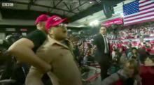 IMAGE: Press advocacy groups condemn attack on BBC cameraman at Trump rally