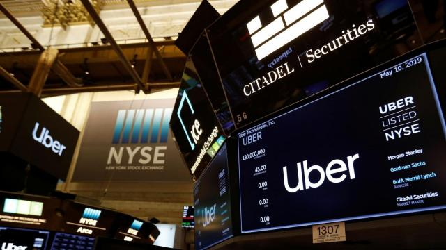 **This image is for use with this specific article only** Uber was already the biggest high-profile IPO bust in recent memory. And it only got worse on Monday. (Andrew Kelly/Reuters)