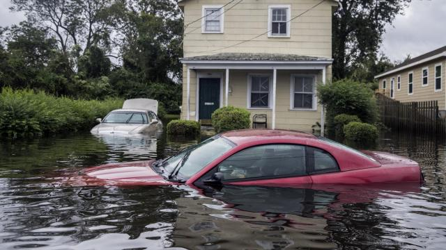 FILE -- A neighborhood in New Bern, N.C., flooded by Hurricane Florence on Sept. 15, 2018. Real estate markets are already feeling the effects of climate change, researchers say. (Victor J. Blue/The New York Times)