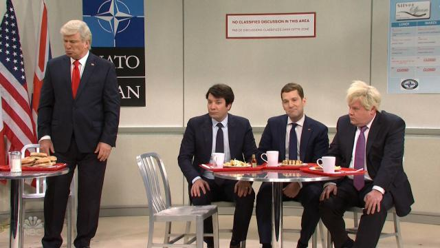 President Donald Trump treated as the loser among the NATO cool kids in 'Saturday Night Live' cold open