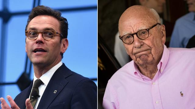 James Murdoch denounces Fox News and his father's other news outlets for climate change coverage