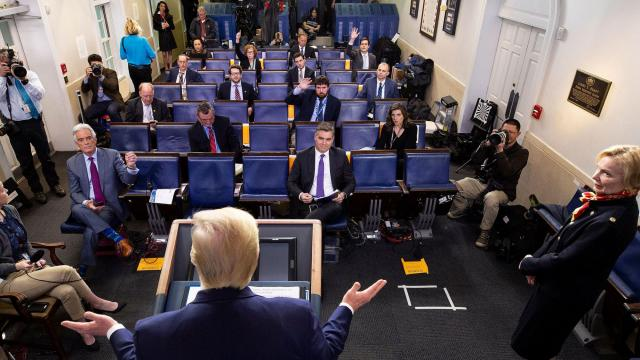 WHCA removes far-right outlet from briefing room rotation