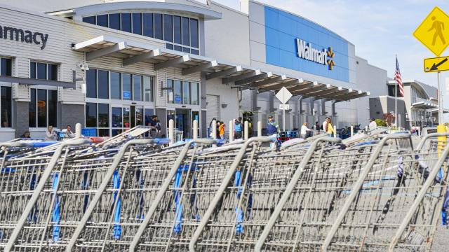 FILE -- Outside a Walmart Inc., store in Secaucus, N.J., Oct. 13, 2019. The retail giant said it was teaming up with Microsoft, which has been negotiating for weeks to buy TikTok, the popular Chinese-owned video app. (Gabby Jones/The New York Times)