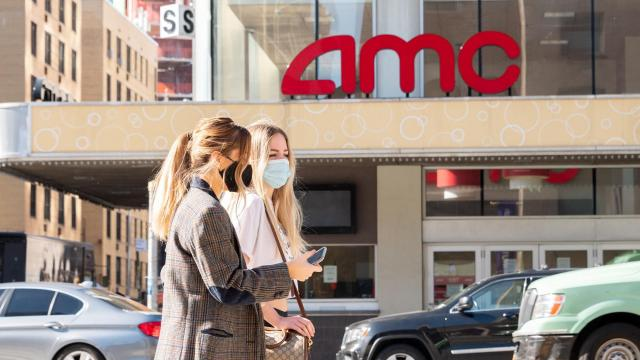 AMC Theatres stock surges on vaccine news