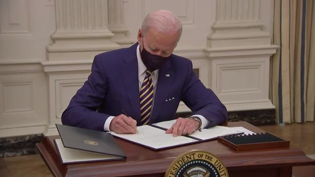 Biden explained his American Rescue Plan during remarks on Friday.
