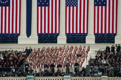 The Mormon Tabernacle Choir sings at the inauguration of President Donald Trump in Washington, D.C., on Friday, Jan. 20, 2017. (Deseret Photo)