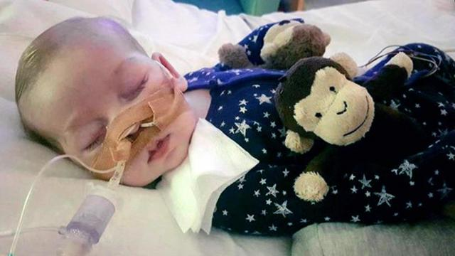 This is an undated photo of sick baby Charlie Gard provided by his family, taken at Great Ormond Street Hospital in London. (Deseret Photo)