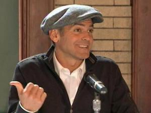 "George Clooney and Renee Zellweger visited Salisbury on Wednesday to promote their football comedy, ""Leatherheads."""