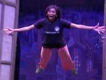 WRAL Anchor Valonda Calloway learns how to fly, with help from Peter Pan.