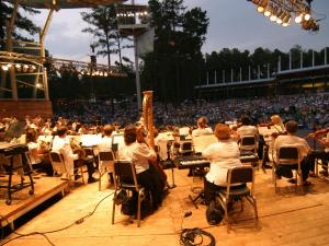 The North Carolina Symphony plays at the Pops in the Park concert in 2008.