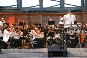 The North Carolina Symphony plays at the Pops in the Park concert.