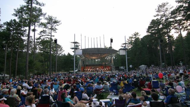 WRAL's Pops in the Park concert was held Sunday at the Koka Booth Amphitheatre.