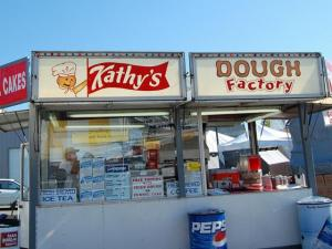 Kathy's Dough Factory was one of many stands setting up at the N.C. State Fair on Oct. 16, 2008.