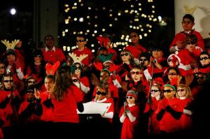 Students from Little River Elementary School sing traditional Holiday songs, and one with a hip hop twist.