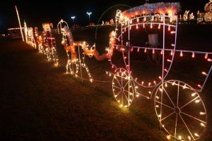 Holiday travelers and locals visit the multi-acre Christmas light display off N.C. 50 near Benson every year.