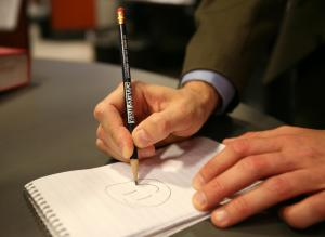 Here's a WRAL pencil in action.
