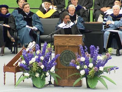 Oprah Winfrey gives commencement address at Duke University on Sunday, May 10, 2009 in Durham, N.C.
