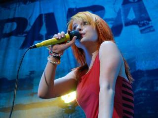 Hayley Williams, lead singer of Paramore, performs at the Time Warner Cable Music Pavilion at Walnut Creek.