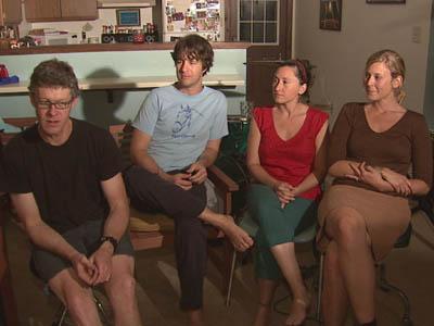 Billy Alphin, Reid Johnson, Maria Albani and Kathryn Johnson make up the band Schooner