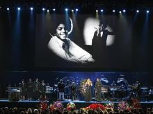A public memorial service for Michael Jackson was held at the Staples Center in Los Angeles on Tuesday.