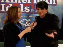 Kathy Hanrahan and Adam Lambert