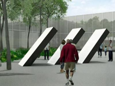 An artist's rendering of the North Carolina Museum of Art after its expansion project.