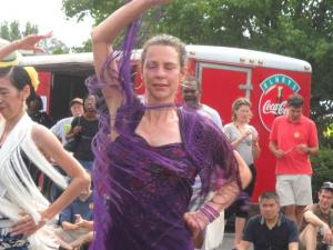 Flamenco dancers twirled for the crowd at Durham Centerfest.