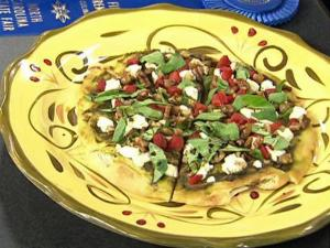 Amanda Boury, of Youngsville, won a blue ribbon at the 2009 North Carolina State Fair with the recipe for Pecan Pesto Pizzette with Goat Cheese.