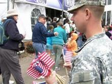 Military recruiting booming in down economy