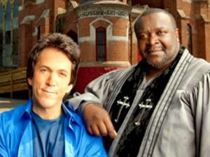 "Author Mitch Albom, left, developed a friendship with Detroit pastor Henry Covington while writing his latest book, ""Have a Little Faith."""