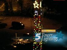 WRAL lights tower to signal holiday season