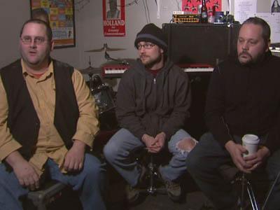 Scott Phillips, Chris Dalton and Greg Eyman make up the Triangle rock band, Goner.