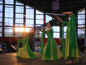 Dancers perform at the Raleigh Chinese New Year Festival at the State Fairgrounds on March 27, 2010. It was organized by the Triangle Area Chinese-American Society of North Carolina. (Photo by Renee Chou)
