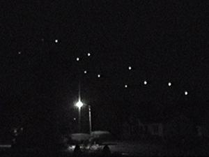Lights were visible in the sky over Clayton Tuesday night.